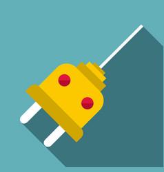 Plug icon flat style vector