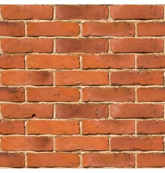 Red brick wall seamless texture vector image vector image