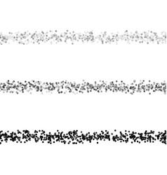 Repeatable random dot pattern text dividing line vector