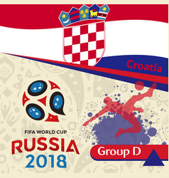 Russia 2018 wc group d croatia background vector