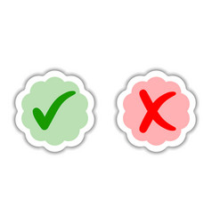 sticker good bad choice purchase approved rejected vector image vector image