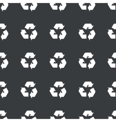 Straight black recycle sign pattern vector