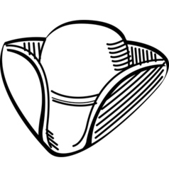 Tricorn fashion hat vector image vector image