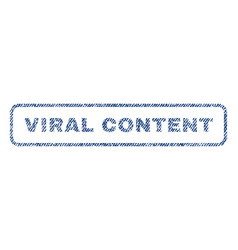 Viral content textile stamp vector