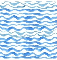 Watercolor strips seamless pattern setBlue cyan vector image