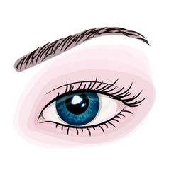 woman beautiful blue eye vector image