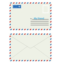 White envelope with stamp vector