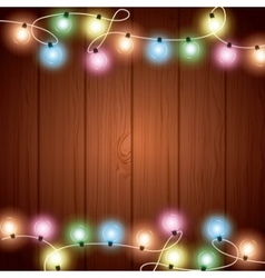 Installation of christmas lights decoration vector