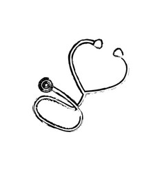 Medical stethoscope symbol vector