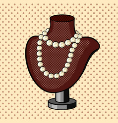 Pearl necklace comic book style vector