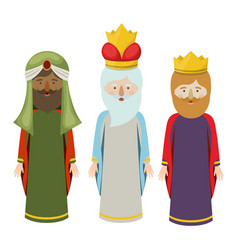 The three wisemen cartoon design vector