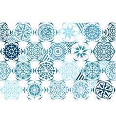 Retro mint universal different seamless patterns vector