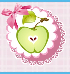 Doily apple vector