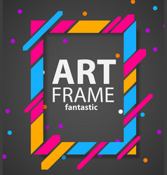 modern hipsters frame for text dynamic geometric vector image