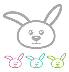 Rabbit bunny vector image