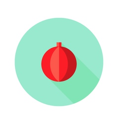 Christmas decorative ball flat icon vector