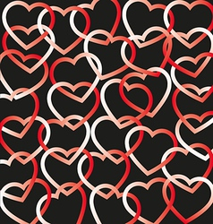 Hearts connected background vector
