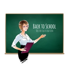School teacher vector