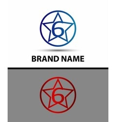 Number six 6 logo icon vector