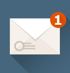 New incoming message notification icon - envelope vector