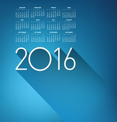 An Elegant 2016 Cloud Calendar vector image