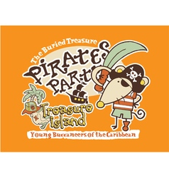 Cute pirate mouse vector