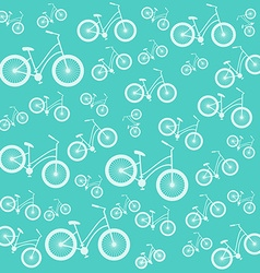 Bicycle blue seamless pattern vector