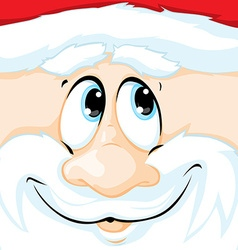 Christmas of santa claus in square - vector