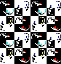 Seamless abstract geometric pattern on a chess vector image