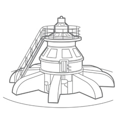Outline hydroelectric generator vector