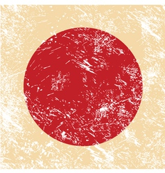 Japan retro flag vector image