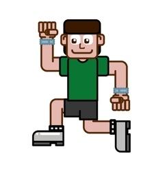 Man cartoon icon bodybuilding design vector