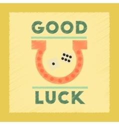 Flat shading style icon good luck logo vector