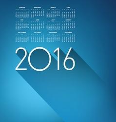 An elegant 2016 cloud calendar vector