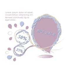 Big Sale paper banner Sale background Big sale vector image vector image