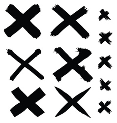 black painted cross vector image vector image