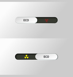 Button slider biohazard radiation vector