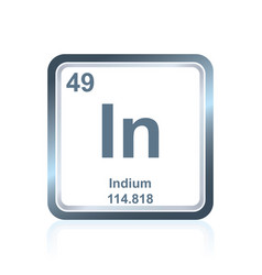 Chemical element indium from the periodic table vector