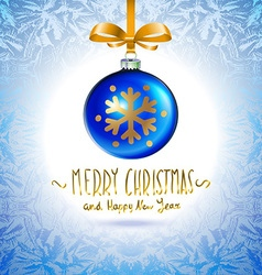 Christmas ball christmas tree decorations blue vector