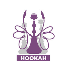 hookah lounge bar isolated emblem with shisha vector image