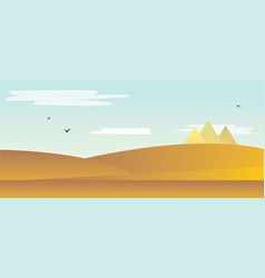 Landscape of the desert vector