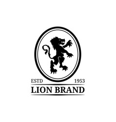 lion logo template luxury monogram vector image vector image