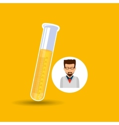 male scientist laboratory icon test tube vector image vector image