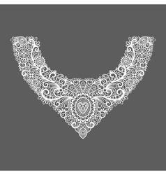Neck print floral design vector