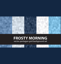 Pentagon pattern set frosty morning seamless vector