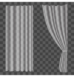 Realistic Curtains on Transparent Background vector image