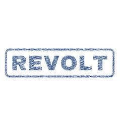 revolt textile stamp vector image vector image