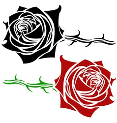 rose tatoo vector image vector image