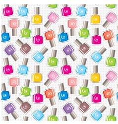 Seamless nail polish pattern vector