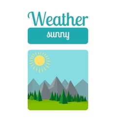 Sunny weather vector image vector image